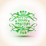 Merry Christmas celebration poster design. Royalty Free Stock Photography