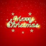 Merry Christmas celebration poster design. Stock Photography