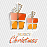 Merry Christmas celebration poster with gift box. Stock Image
