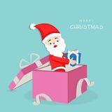 Merry Christmas celebration with Santa Claus. Stock Photo