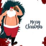 Merry Christmas celebration with Santa Claus. Illustration of Santa Claus for Merry Christmas celebration Stock Photos