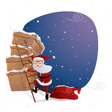 Merry Christmas celebration with Santa Claus. Stock Photos