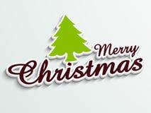 Merry Christmas celebration with stylish text. Stock Photos