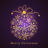 Merry Christmas celebration with Xmas Ball. Royalty Free Stock Photo