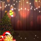 Merry Christmas celebration with Xmas Tree. Stock Image