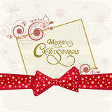 Merry Christmas celebrations greeting card design. Royalty Free Stock Photo