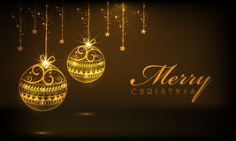 Merry Christmas celebrations with hanging ornaments. Stock Photography