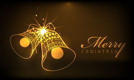 Merry Christmas celebrations with jingle bells. Stock Photos
