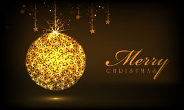 Merry Christmas celebrations with Xmas ball. Stock Image