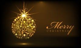 Merry Christmas celebrations with Xmas ball. Stock Photos