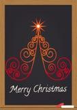 Merry christmas on chalkboard Stock Photos