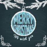 Merry Christmas chalkboard greeting card Stock Photography