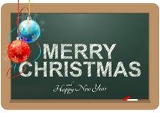 Merry christmas chalkboard Stock Image