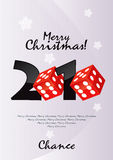Merry Christmas Chance. Vector Drawing Royalty Free Stock Photos