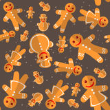 Merry christmas. Christmas characters. Seamless pattern. Background for textile or banners Royalty Free Stock Photos