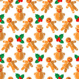 Merry christmas. Christmas characters. Seamless pattern. Background for textile or banners Stock Image