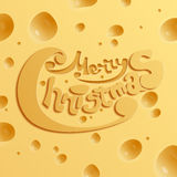 Merry Christmas. Cheese concept Royalty Free Stock Image