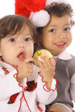 Merry christmas children Royalty Free Stock Photography