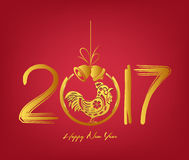 2017 Merry Christmas and Chinese New Year.  Stock Photography