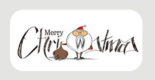 2400Merry Christmas! Christmas Background Cartoon Style Hand Ske. Merry Christmas! Christmas Background Cartoon Style Hand Sketchy drawing of a funny Santa Claus Stock Photo