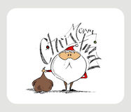 Merry Christmas! Christmas Background Cartoon Style Hand Ske Royalty Free Stock Photography