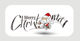 2400Merry Christmas! Christmas Background Cartoon. Merry Christmas! Christmas Background Cartoon Style Hand Sketchy drawing of a funny Santa Claus Holding gift Stock Photography