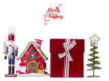 Merry Christmas. Christmas background with traditional Figurine Christmas Nutcracker Royalty Free Stock Images