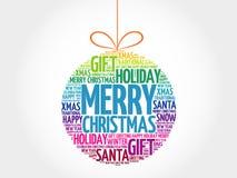 MERRY CHRISTMAS, Christmas ball Royalty Free Stock Photo