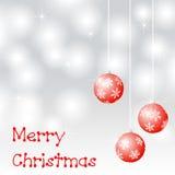 Merry christmas and christmas balls Royalty Free Stock Photo