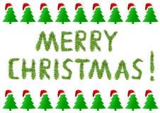 Merry Christmas with Christmas tree. Eps 10 illustration Stock Photo