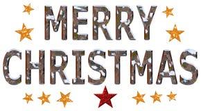 Merry Christmas Chrome Stock Photo