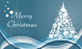 Merry Christmas circle tree background Royalty Free Stock Images