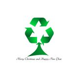 A Merry Christmas ... clean!. Illustration with Christmas tree on white background Stock Image