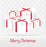 Merry Christmas clean design greeting card background.  Royalty Free Stock Images
