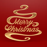 Merry Christmas with Clipping Path Royalty Free Stock Images