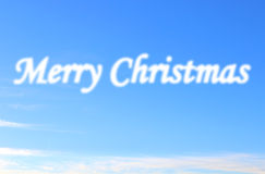 Merry Christmas cloud Stock Images