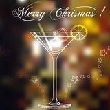 Merry christmas coctail on a background. Stock Image