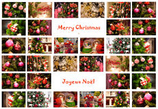 Merry Christmas Collage Royalty Free Stock Photography