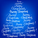 Merry Christmas collection hand lettering - handmade calligraphy Royalty Free Stock Images