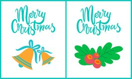 Merry Christmas Collection on Vector Illustration Stock Photos
