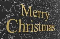 Merry christmas. Color with color background Royalty Free Stock Images