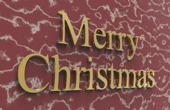 Merry christmas. Color with color background Royalty Free Stock Photo