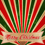 Merry Christmas in colored rays Royalty Free Stock Photography