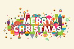 Merry christmas colorful abstract greeting card background Royalty Free Stock Image