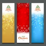 Merry Christmas colorful banners design vertical collections Stock Photos