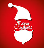 Merry christmas colorful card design Stock Photography
