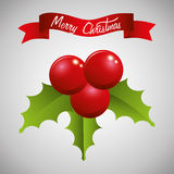 Merry christmas colorful card design Stock Images