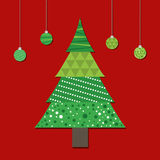 Merry christmas colorful card design Royalty Free Stock Images