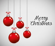 Merry christmas colorful card design Royalty Free Stock Photos