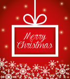 Merry christmas colorful card design Royalty Free Stock Image